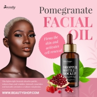 Facial Oil Product Display Ad Pos Instagram template