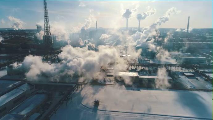 Factory smoke Foto di copertina del canale YouTube template