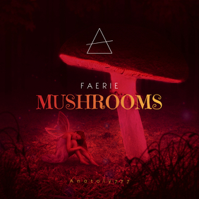 Faerie Mushrooms CD Cover Template