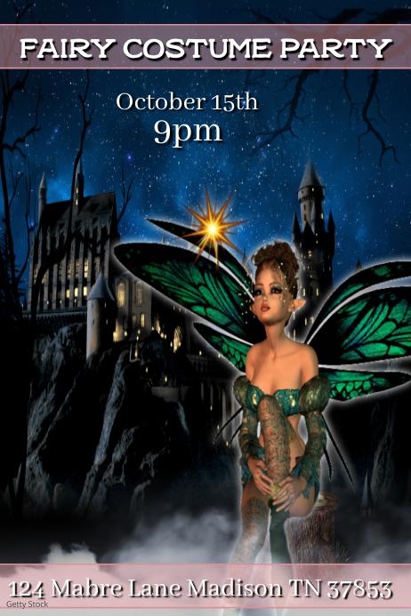 Fairy Costume Party โปสเตอร์ template