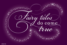 Fairy Tales Do Come True Princess Poster Gift Little Girl