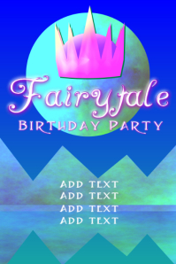 Fairytale birthday in blue pink and green party