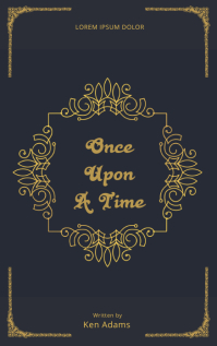 Fairytale Old Vintage Book Cover Template