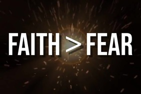 Faith > Fear Poster template