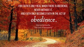 Faith and Obedience Poster Ecrã digital (16:9) template