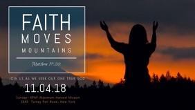 Faith and Worship Church Event Facebook Cover Video