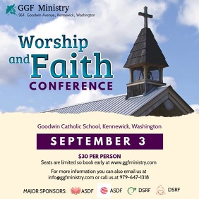 Faith and Worship Conference Ad Video Template Instagram Post