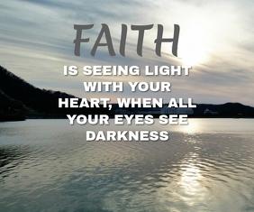 FAITH QUOTE TEMPLATE Großes Rechteck