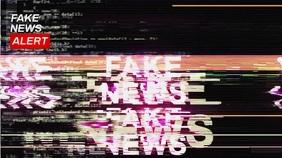 FAKE News Live Zoom Background Video Presentation (16:9) template
