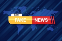 FAKE NEWS POSTER template