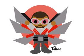 Falcon Poster template