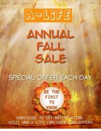Fall Annual Sale Video Template
