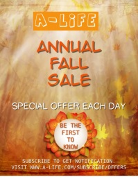 Fall Annual Sale Video Template