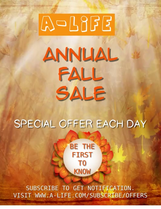 Fall Annual Sale Video Template Volante (Carta US)