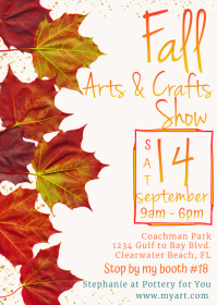 Fall Arts and Craft Show Advertising Postcard A6 template