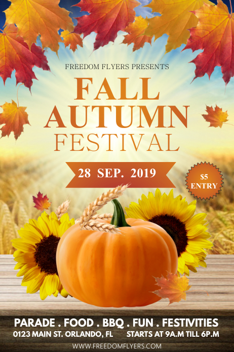 Fall/Autumn Plakat template