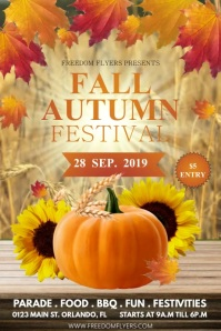 Fall/Autumn Cartaz template