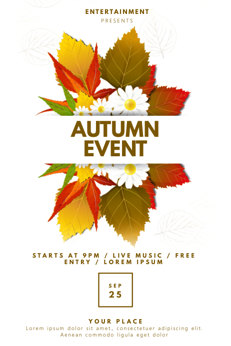 Fall Autumn Event Flyer Template