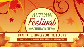 Fall/Autumn Facebook Cover Video template