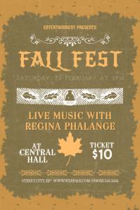 fall autumn fest fair festival flyer template