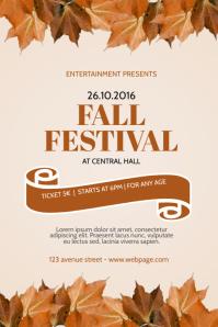 Fall Autumn Festival Event Flyer Template