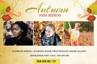 Fall autumn Mini Session Label template