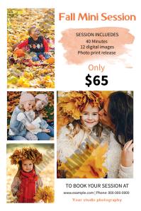 Fall / Autumn Photography Mini Session Label template