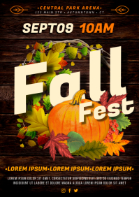 FALL / AUTUMN POSTER A4 template