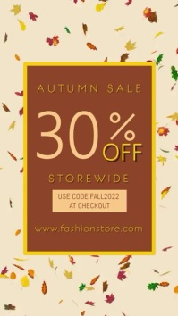 Fall Autumn Sale Event Poster Template Digitale display (9:16)