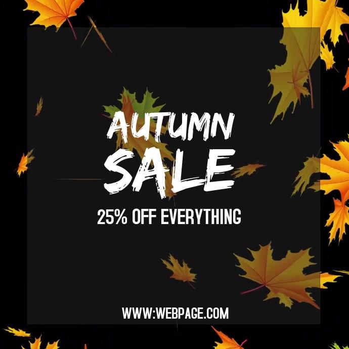 Fall autumn sale instagram post template