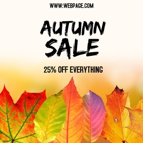 fall autumn sale instagram post template