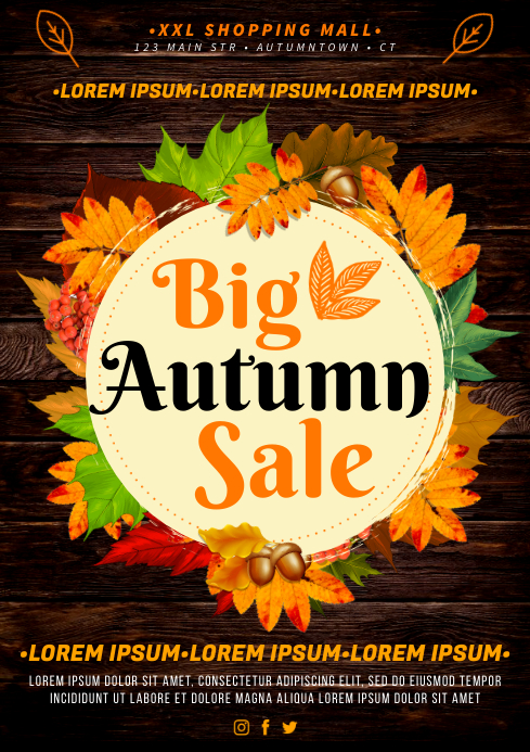FALL / AUTUMN SALE POSTER A4 template