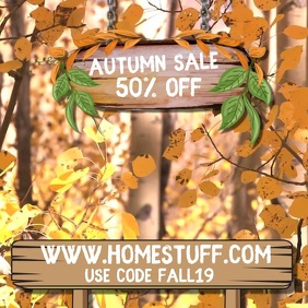 Fall Autumn Sale Video Template