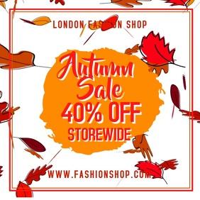 Fall Autumn Sale Video Template
