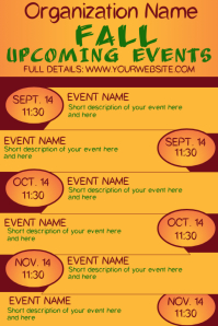 Fall Autumn Upcoming Events Calendar 3