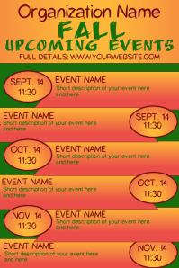 Fall Autumn Upcoming Events Calendar 5