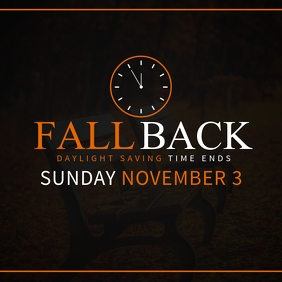 Fall Back: Daylight Saving Time Ends Instagram na Post template