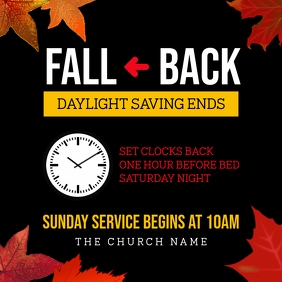 fall back daylight saving ends Instagram na Post template