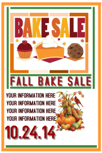 FALL BAKE SALE