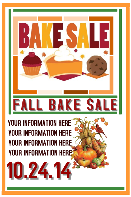 Great Bake Sale. Similar Design Templates Gallery