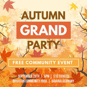 Fall Bar Event Square Ad Template