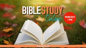 Fall Bible Study Online Ecrã digital (16:9) template