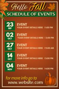 Fall Calendar Poster template