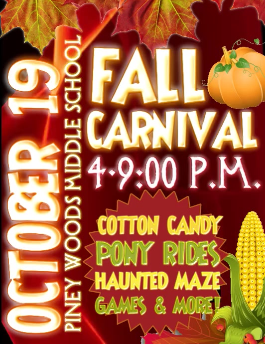 Fall Carnival Video Flyer (format US Letter) template