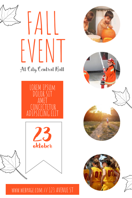 fall children s event flyer template postermywall