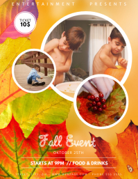 Fall Childrens Event Flyer Template
