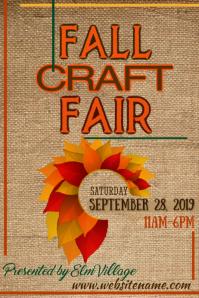 Fall Craft Fair Poster Affiche template