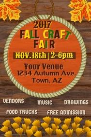 Fall Craft Fair Poster Template