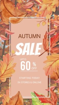 Fall Event, Autumn event Instagram-verhaal template