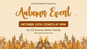 Fall Event Facebook Cover Video